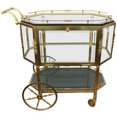 French Neoclassical Style Brass Pastry Cart or Tea Trolley