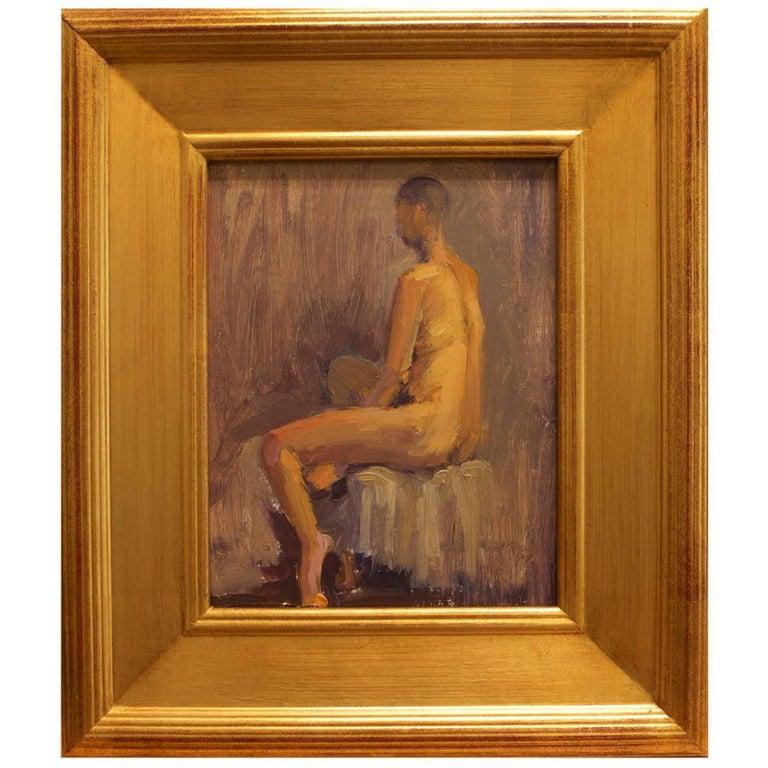 "Framed Nude Oil on Linen Panel ""Amanda II"", circa 2016"