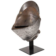 Antique Chevalier Helmet, France, 16th Century