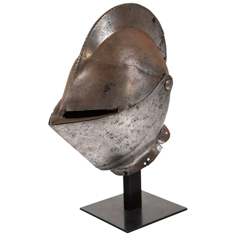 Antique Chevalier Helmet, France, 16th Century