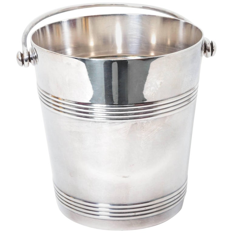 Christofle Silver Plate Ice Bucket with Insert