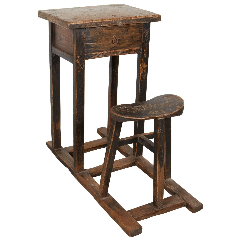 Antique Chinese School Desk