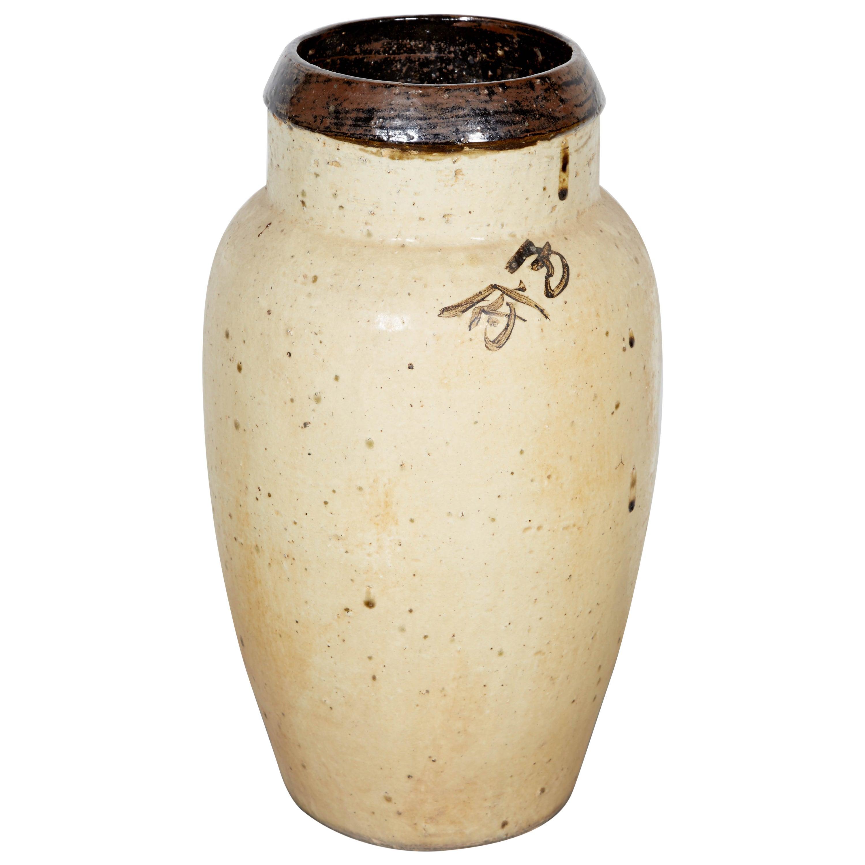 Tall Antique Chinese Ceramic Wine Jar, circa 1850