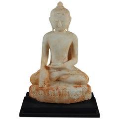 Shan Style Burmese Alabaster Buddha, 19th Century