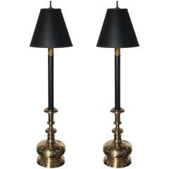 Pair of Chapman Tall Buffet Candlestick Lamps