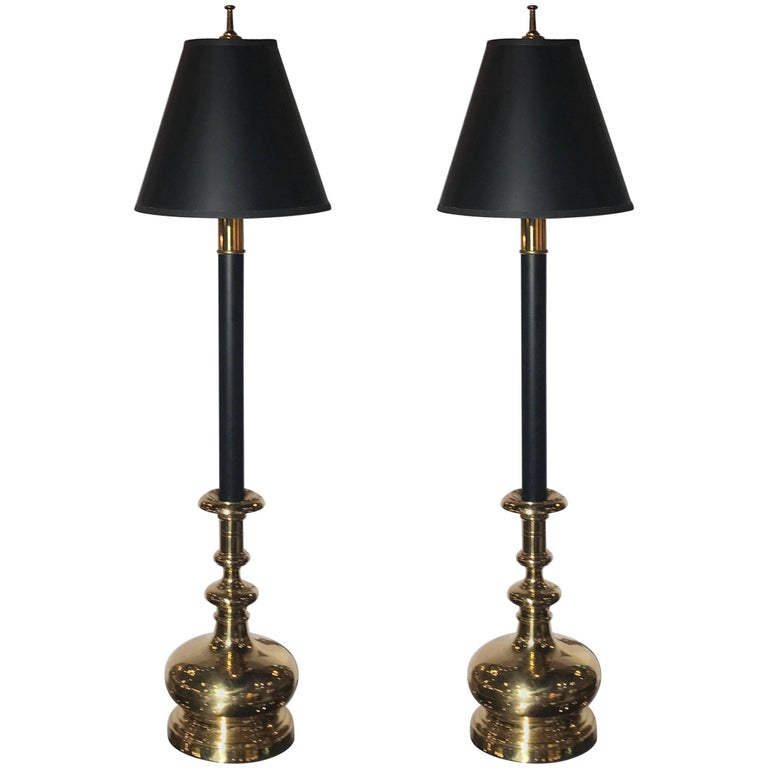 Pair Of Chapman Tall Buffet Candlestick Lamps For Sale At