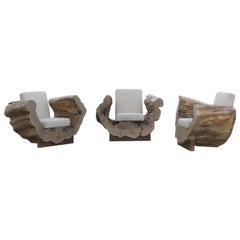 Cocoon Chair or Organic Modern Reclaimed Wood Lounge Chair