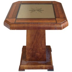 Mirrored Art Deco Side Table