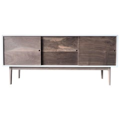 Claro Walnut Credenza with Maple Legs