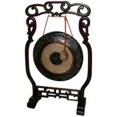 Oriental Rosewood, Brass Dinner Gong