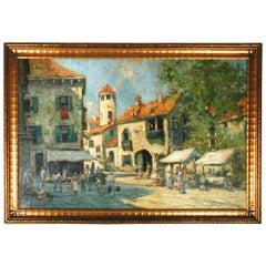 Mediterranean Marketplace by Arthur Diehl, circa 1928