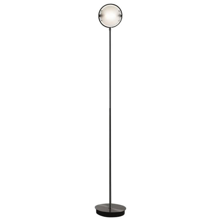 """Fontana Arte """"Nobi"""" LED Floor Lamp in Chrome or Nickel Designed, Metis Lighting"""