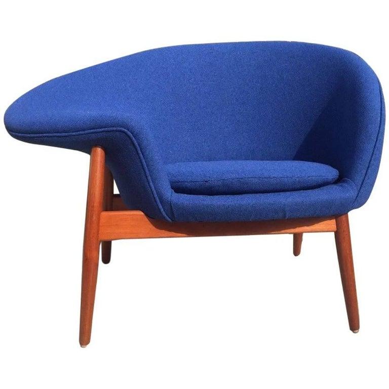 hans olsen fried egg chair for bramin danish lounge at 1stdibs. Black Bedroom Furniture Sets. Home Design Ideas