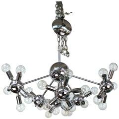 Italian Mid-Century Modern Chrome Sputnik Chandelier