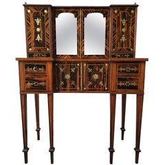 19th Century English Regency Coromandel Calamander Canterbury Desk