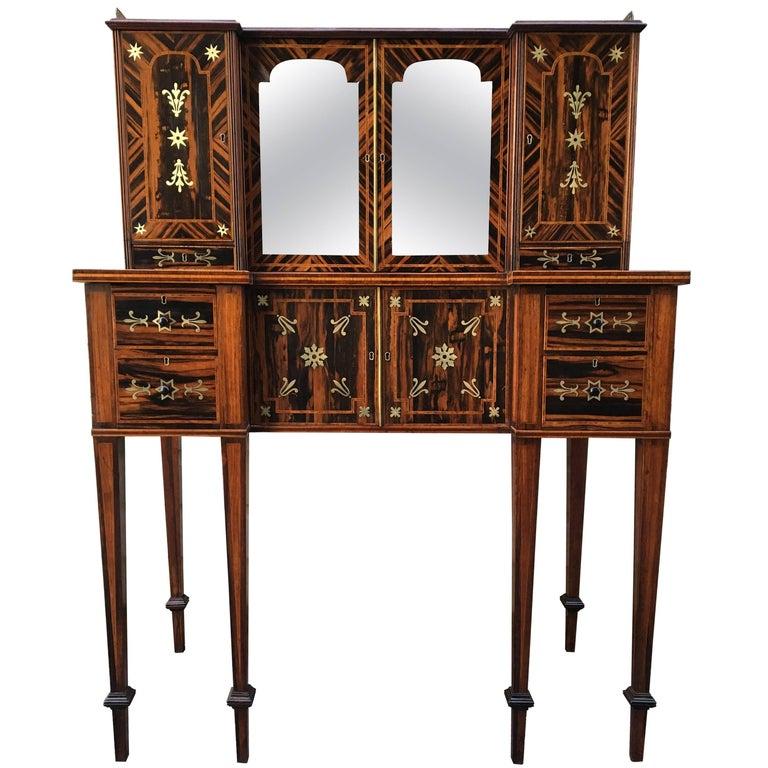 19th Century English Regency Coromandel Calamander Canterbury Desk