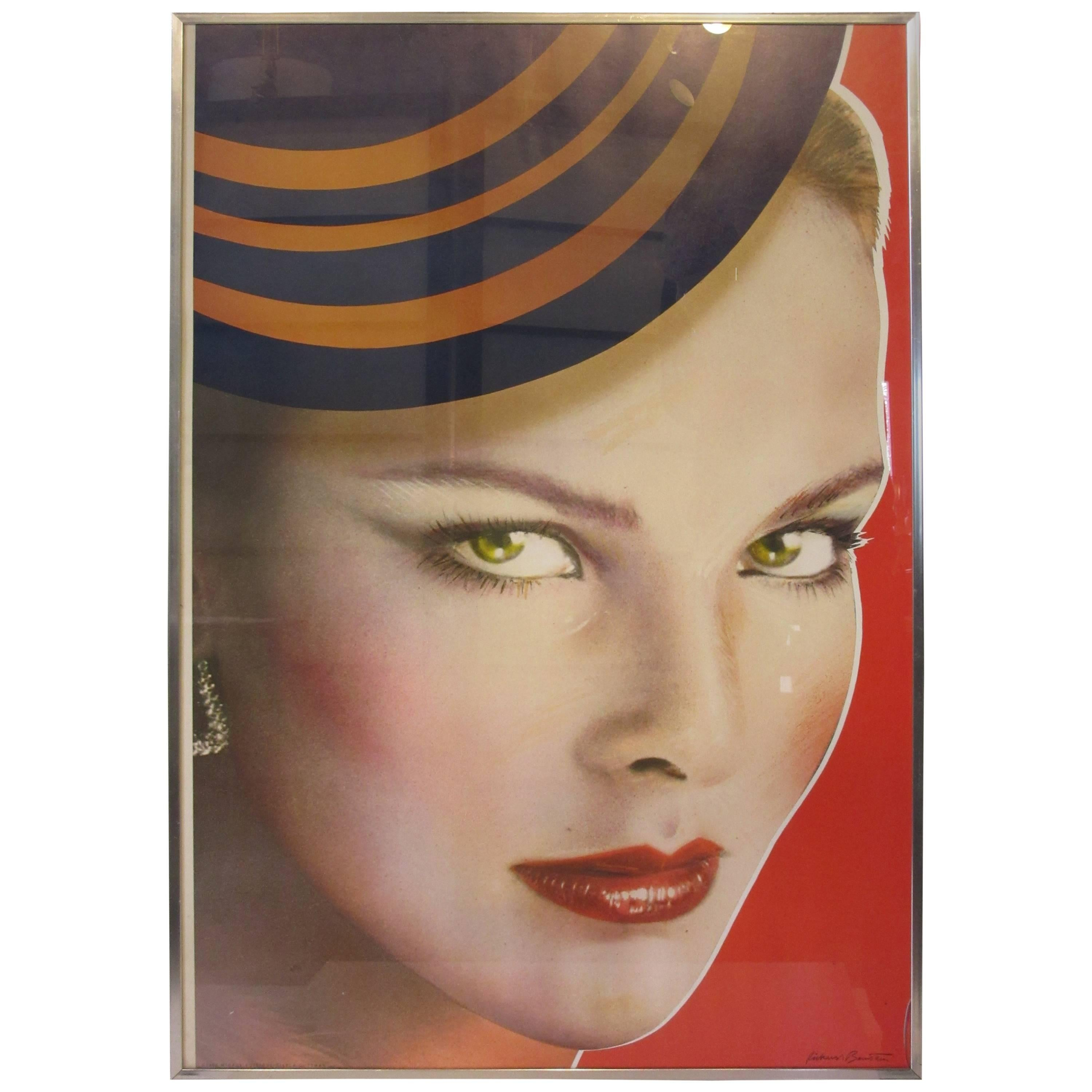 Large Interview Magazine Richard Bernstein Color Litho in the Manner of Warhol