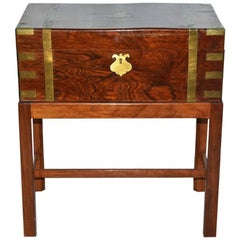 19th Century Small Campaign Chest on Stand