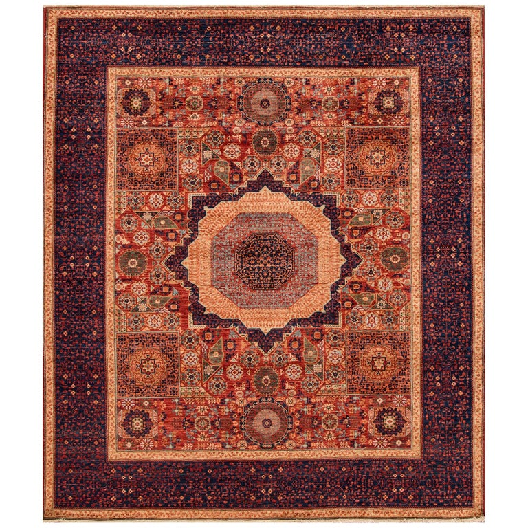 21st Century Rust Blue Afghan Carpet For Sale At 1stdibs