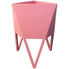 Mini Deca Planter, Flat Light Pink Powder Coated Steel, Force/Collide, 2017