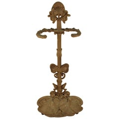American Victorian Painted Metal Umbrella Stand