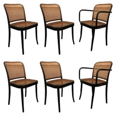 Set of Six Modern Cane Dining Chairs Josef Frank