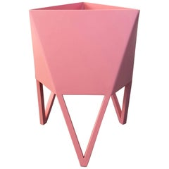 Large Deca Planter, Flat Light Pink Powder Coated Steel, Force/Collide, 2017
