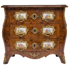 19th Century French Walnut Specimen Louis XV Style Commode
