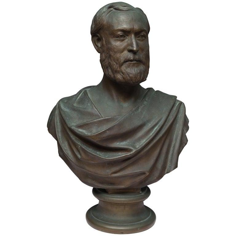 Bronze Bust of a Gentleman