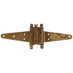 Industrial Style Vintage Brass Door Hinge