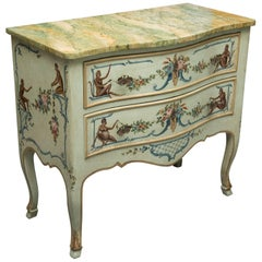 Venetian Hand-Painted Serpentine Commode