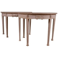 Pair of Demilune Console Tables