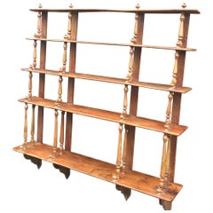 Antique 19th Century Bistro Shelf in Elm