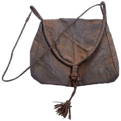 Early 20th Century Afghani Leather Bag