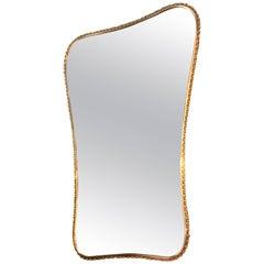 Brass Mirror, Italian 1960s