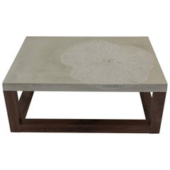Lotus Leaf or Minimal Modern Concrete Coffee Table