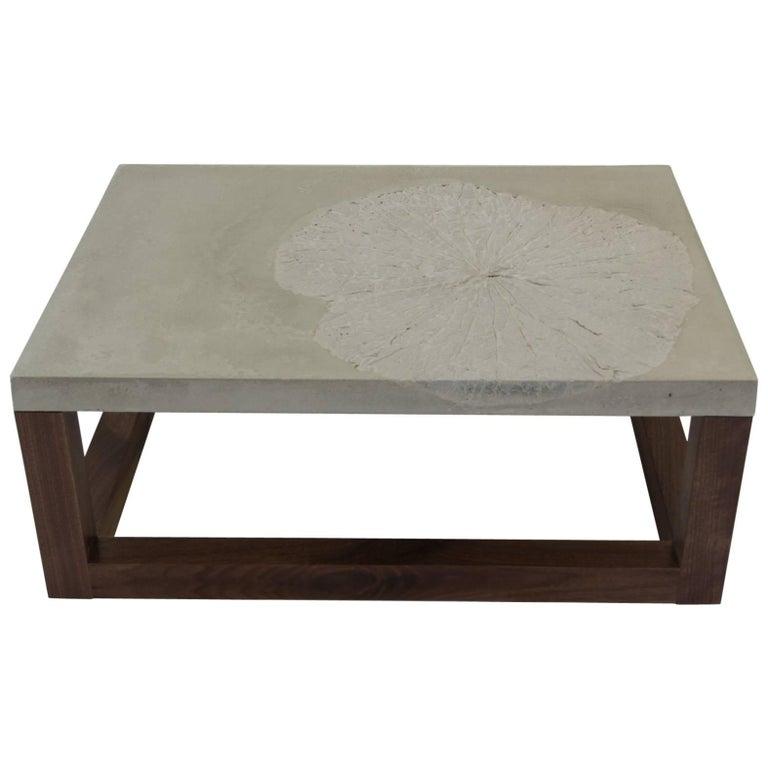 Lotus Leaf or Minimal Modern Concrete Coffee Table