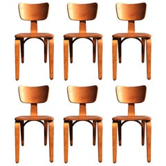 Six Beautiful Thonet Dining Chairs, USA, 1950s