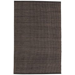 Tatami Small Black Wool and Jute Rug by Nani Marquina & Ariadna Miquel