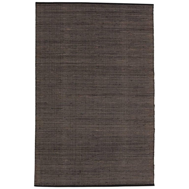 Tatami Black Wool and Jute Rug by Nani Marquina & Ariadna Miquel Medium