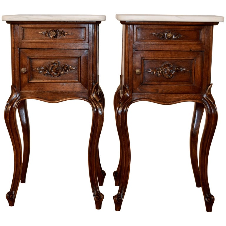 19th Century Pair of French Bedsides