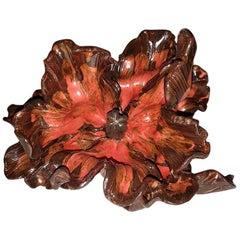 Matthew Solomon Ceramic Tulip, Shades of Red