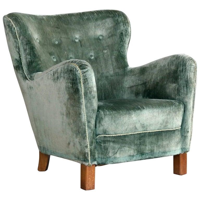 Fritz Hansen Easy Chair Variant of Model 1669, Denmark, 1940s