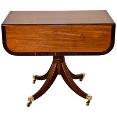 19th Century Mahogany Sofa Table with Coromandel Banding