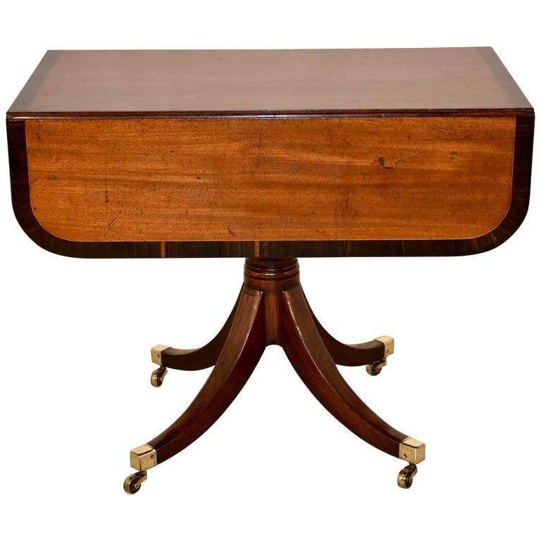 19th Century Mahogany Sofa Table with Coromandel Banding