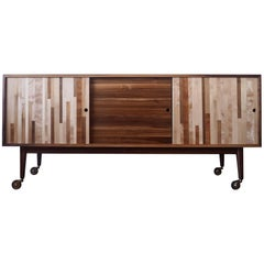 Mixed Species, Solid Walnut Case Credenza