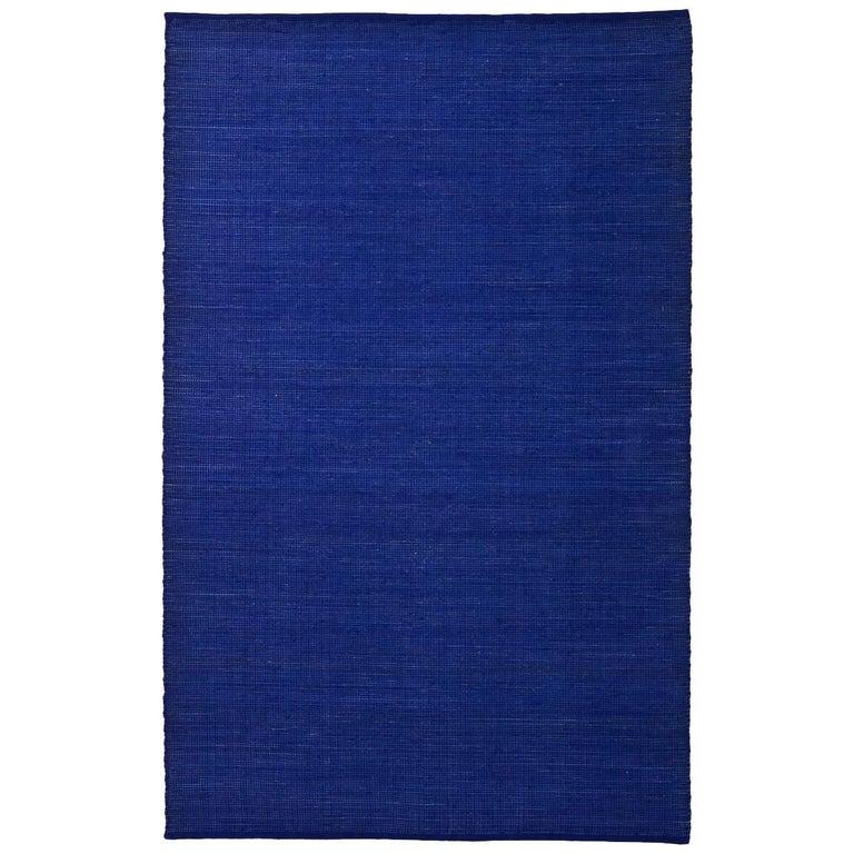 Tatami Indigo Wool and Jute Rug by Nani Marquina & Ariadna Miquel Medium For Sale