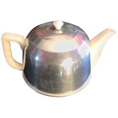 Japan Vintage Ceramic Tea Pot Modernist Style Warming Jacket Immediate Use