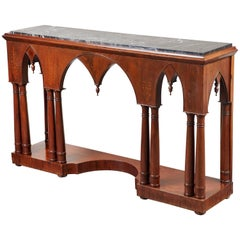 Early 19th Century French Charles X Mahogany Console