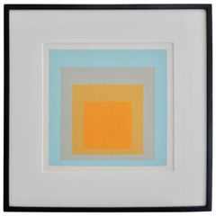 "Josef Albers, ""Wide Light"" Homage to the Square Screen Print, 1962"